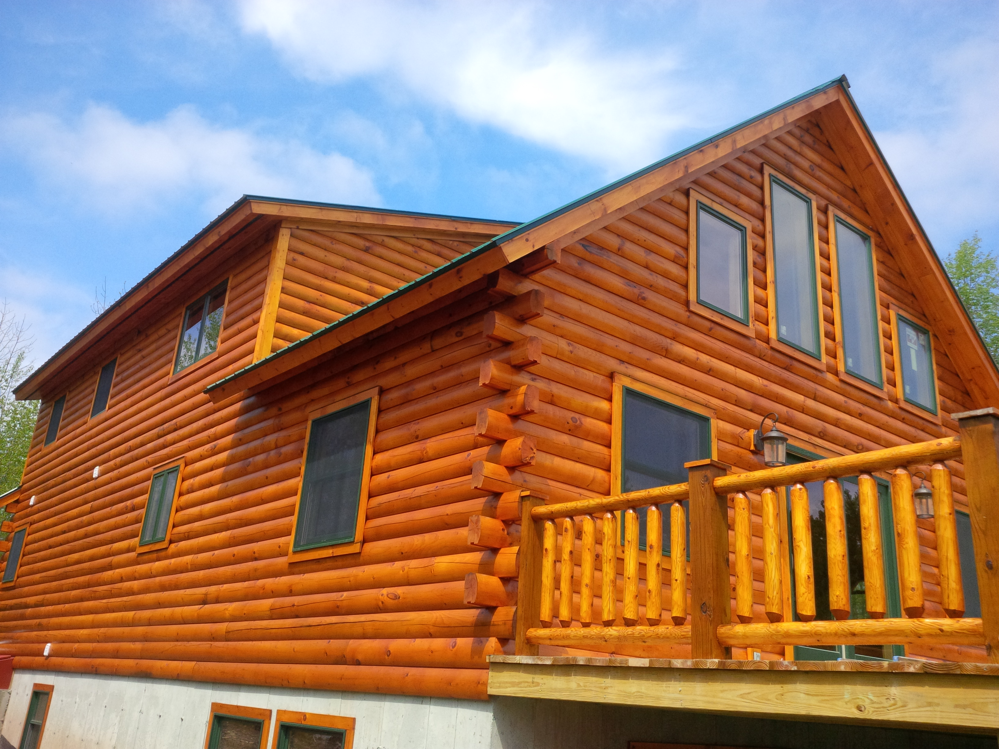 A guide to buying an existing log home land remote and for How to stain log cabin